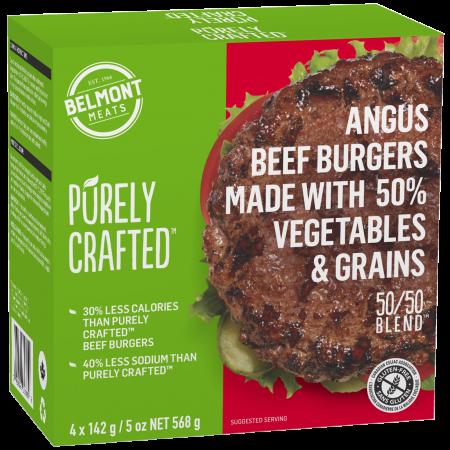 1010850_PURELY CRAFTEDΓäó_50 & 50 BlendΓäó_Beef & Veggie Burgers_3D render