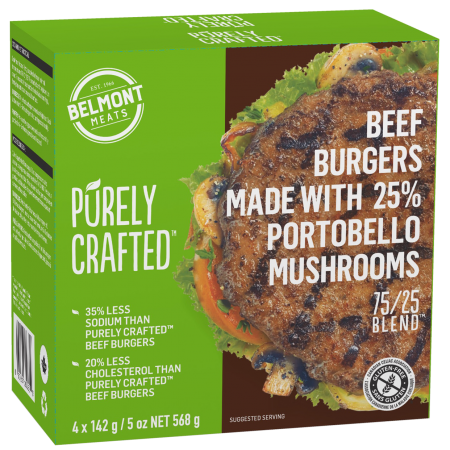 1010862_PURELY CRAFTEDΓäó_75 & 25 BlendΓäó_Beef & Mushroom Burgers_3D render