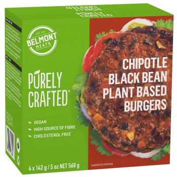 1010852_PURELY CRAFTEDΓäó_Plant Based_Chipotle Black Bean Burgers_3D render